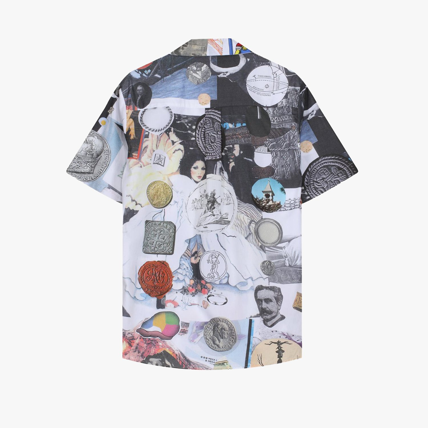 Soulland Meets Numbers Collage Vacation Button Up